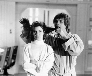 Guerre stellari: Carrie Fisher e Mark Hamill sul set