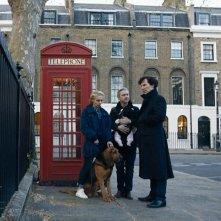 Sherlock: Amanda Abbington, Martin Freeman e Benedict Cumberbatch in The Six Thatchers