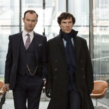 Sherlock: Mark Gatiss e Benedict Cumberbatch in The Six Thatchers