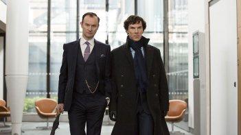 Sherlock: Mark Gatiss e Benedict Cumberbatch in The Six Thatchers