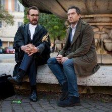 Rimetti a noi i nostri debiti: Marco Giallini e Claudio Santamaria sul set
