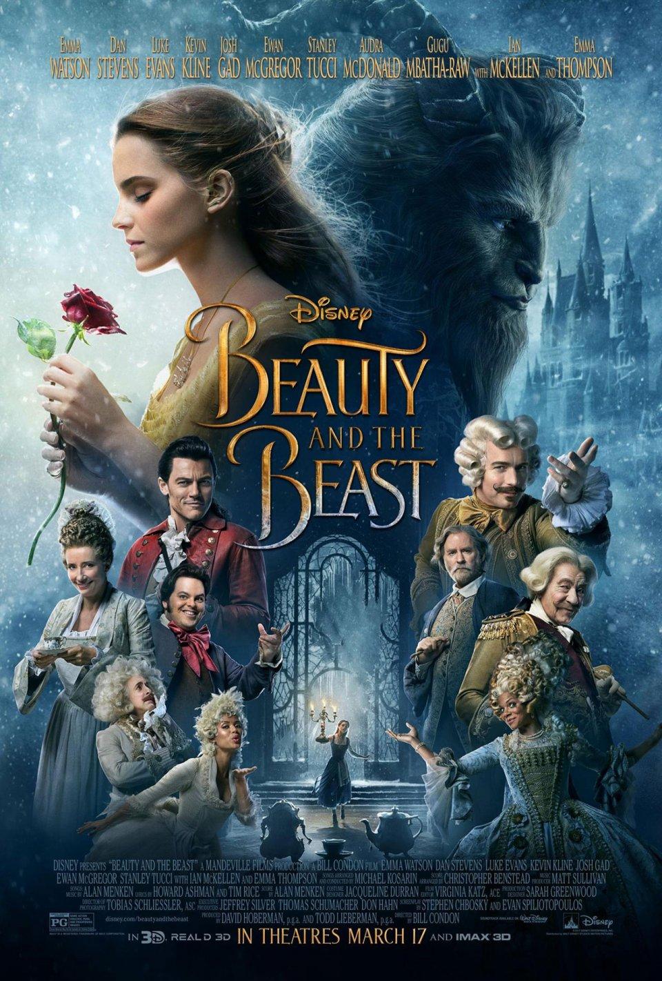 La Bella e la Bestia 2017: Emma Watson, Dan Stevens e Luke