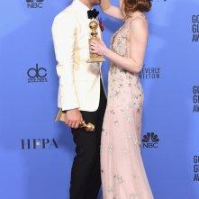 Emma Stone e Ryan Gosling ai Golden Globes 2017