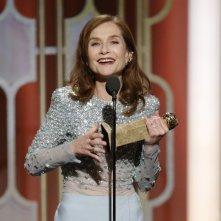 Isabelle Huppert ai Golden Globes 2017