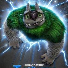Trollhunters: una locandina per la prima stagione della serie animata