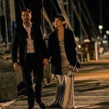 Cinquanta sfumature di nero: Jamie Dornan e Dakota Johnson in un momento del film