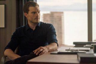 Cinquanta sfumature di nero: Jamie Dornan in un momento del film