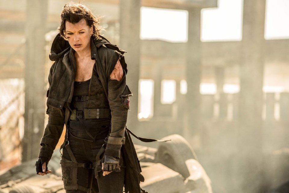 Resident Evil - The Final Chapter: Milla Jovovich in una scena del film