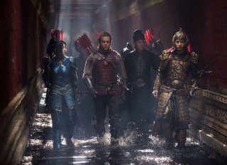 The Great Wall: Matt Damon e Tian Jing in una scena del film