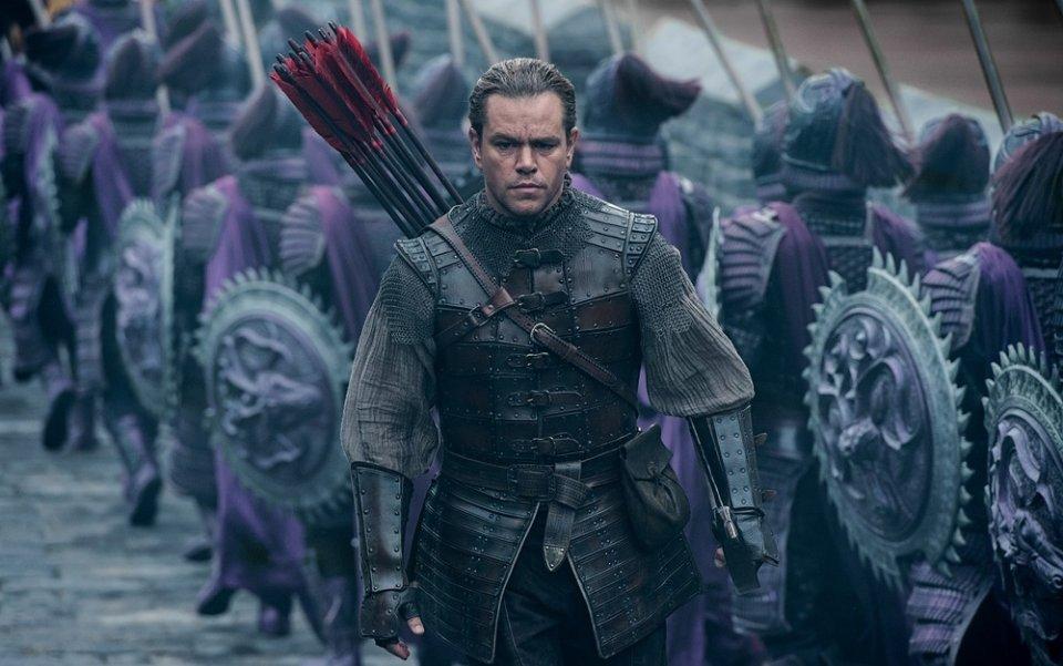 The Great Wall: Matt Damon in una scena del film