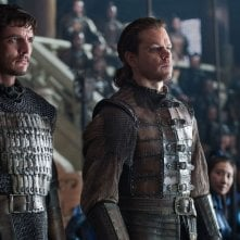 The Great Wall: Matt Damon e Pedro Pascal in una scena del film