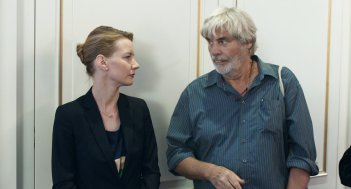 Vi presento Toni Erdmann: Sandra Hüller e Peter Simonischek in un momento del film