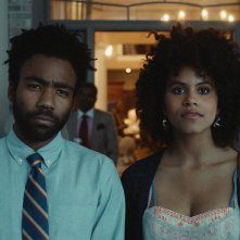 Atlanta: Zazie Beetz e Donald Glover in una scena