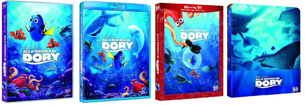 Le cover homevideo di Alla ricerca di Dory