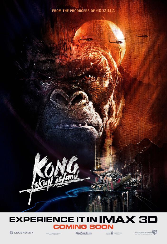 Kong: Skull Island - Il poster del film in versione IMAX