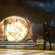 Guardiani della Galassia Vol. 2: Zoe Saldana in una scena