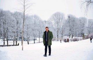 The Snowman: Michael Fassbender in una scena del film