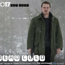 The Snowman: Michael Fassbender durante le riprese