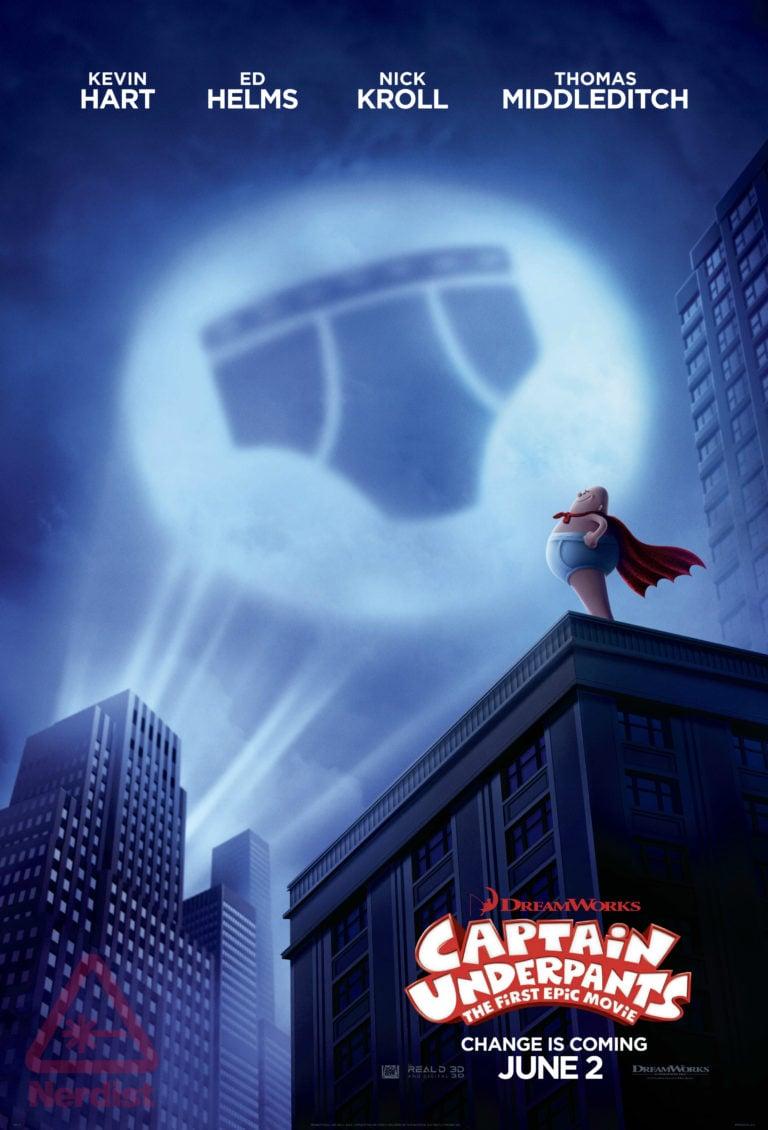 Captain Underpants: la locandina del film