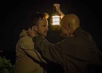 The Path: una foto degli attori Aaron Paul e Keir Dullea