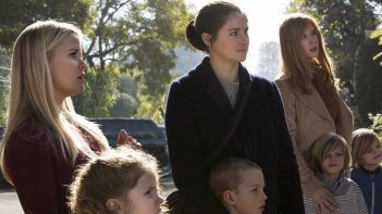 Big Little Lies: Reese Witherspoon, Shailene Woodley e Nicole Kidman in una foto della serie