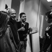 Esclusiva: Slam - Tutto per una ragazza, Barbara Ramella, Andrea Molaioli e Ludovico Tersigni in una foto dal set