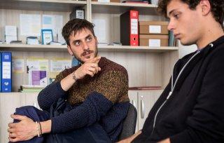 Esclusiva: Slam - Tutto per una ragazza, Luca Marinelli e Ludovico Tersigni in una scena del film
