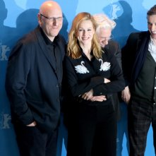 Berlino 2017: Oren Moverman, Richard Gere, Laura Linney e Steve Coogan al photocall di The Dinner