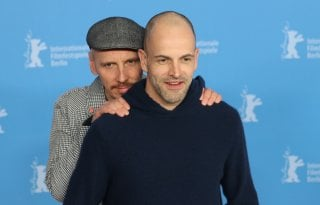 Berlino 2017: Ewen Bremner e Jonny Lee Miller al photocall di T2 Trainspotting
