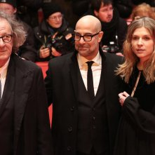 Berlino 2017: Stanley Tucci, Geoffrey Rush, Clémence Poésy sul red carpet di Final Portrait