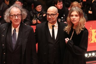 Berlino 2017: Stanley Tucci, Geoffrey Rush, Clémence Poésy sul red carpet di Final Portrait