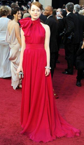 Emma Stone alla cerimonia degli Oscar del 2012