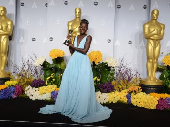 Lupita Nyong'o alla cerimonia degli Oscar del 2014