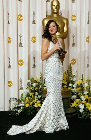 Marion Cotillard alla cerimonia degli Oscar del 2008