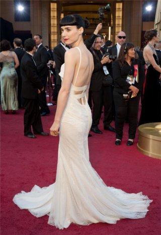 Rooney Mara alla cerimonia degli Oscar del 2012