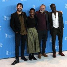 Berlino 2017: Marcelo Gomes, Julio Machado, Isabél Zuaa, Welket Bungué al photocall di Joaquim