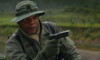 Kong: Skull Island, Samuel L. Jackson in una scena del film