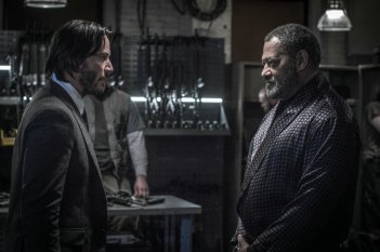 John Wick 2: Keanu Reeves a confronto con Laurence Fishburne