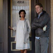 Loving: il regista Jeff Nichols e Ruth Negga in un'immagine dal set