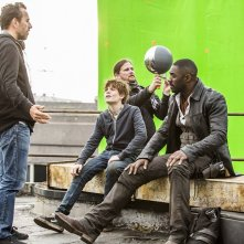 The Dark Tower: i protagonisti durante una pausa sul set
