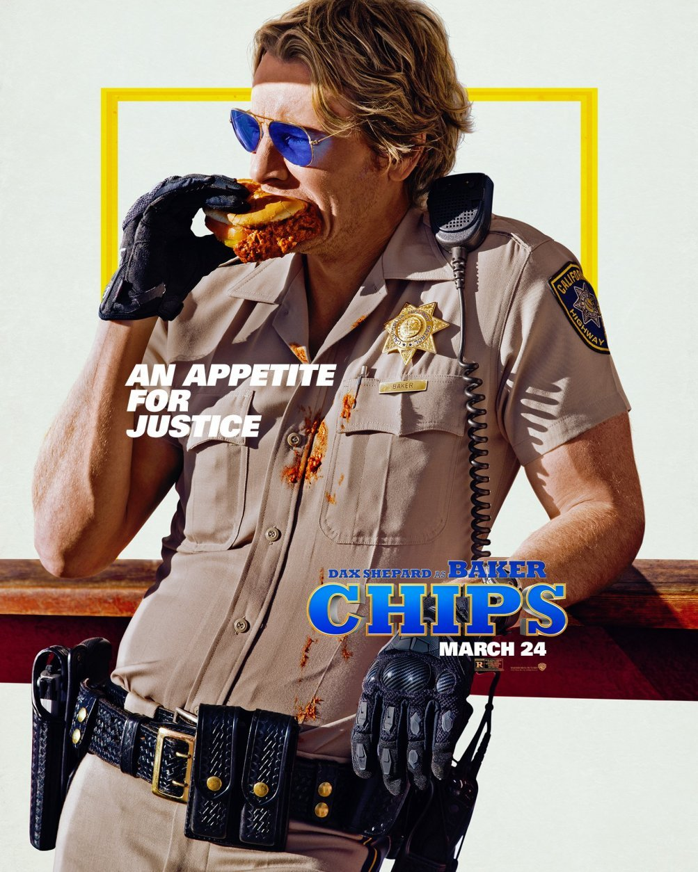 CHIPS: il character poster di Dax Shepard