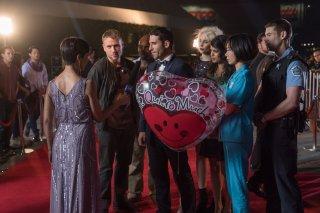 Sense8: una foto dei protagonisti Doona Bae, Max Riemelt, Brian J. Smith, Miguel Ángel Silvestre, Tuppence Middleton, e Tina Desai