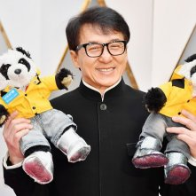 Oscar 2017: Jackie Chan con due panda