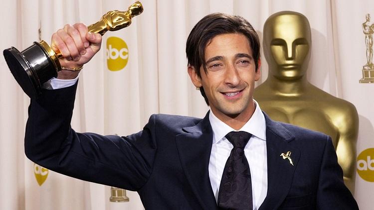 Adrien Brody con l'Oscar