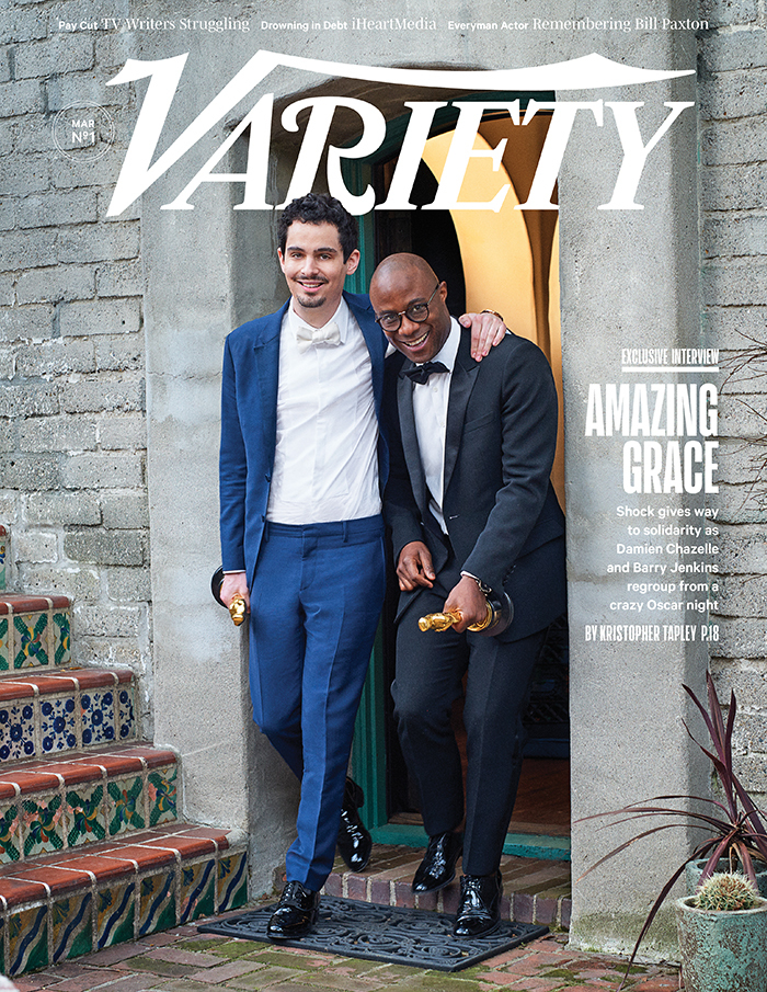Oscar 2017: Damien Chazelle e Barry Jenkins sulla cover di Variety