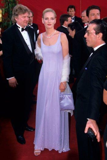 Uma Thurman alla cerimonia degli Oscar del 1995