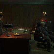 Ghost in the Shell: Scarlett Johansson e Takeshi Kitano in una scena del film
