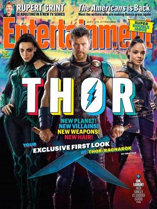 Thor: Ragnarok - La copertina dedicata al film di Entertainment Weekly