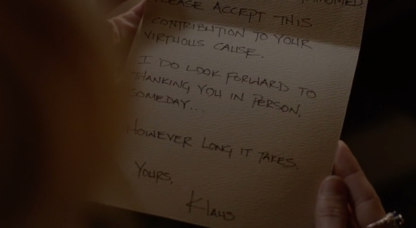 The Vampire Diaries: la lettera di Klaus