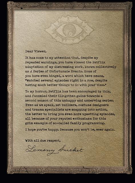 Una serie di sfortunati eventi: un messaggio di Lemony Snicket